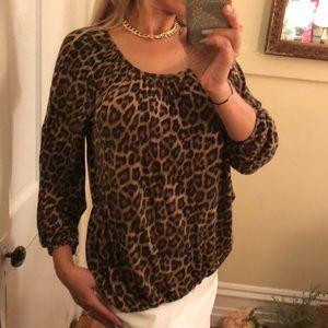 Michael Kors cheetah blouse S
